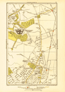 LONDON. Barkingside Grange Hill Mossford Green Fairlop 1933 old vintage map
